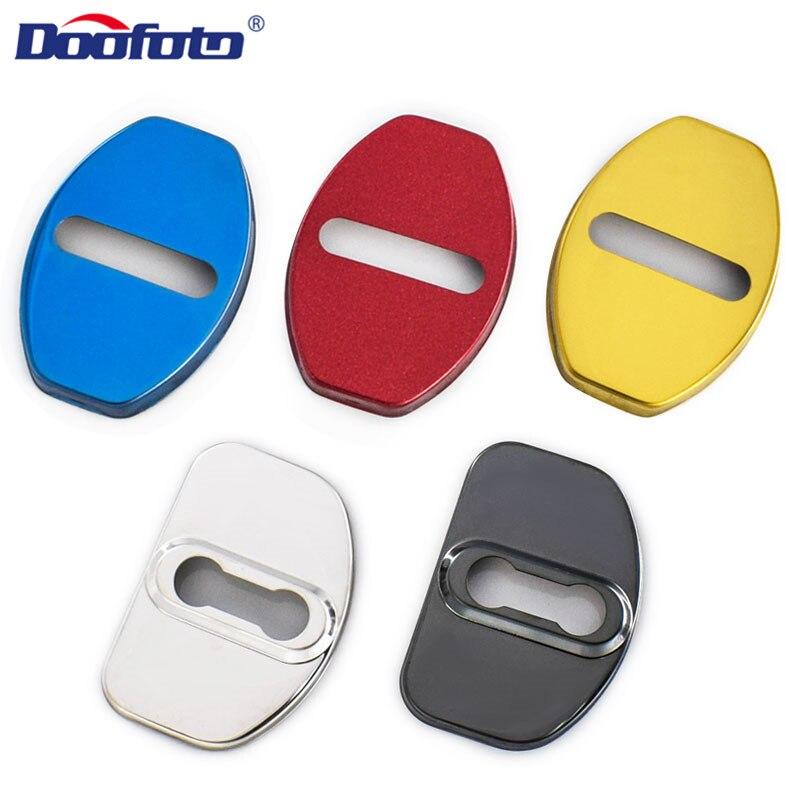 Doofoto 4x Car Door Lock Protective Cover Car Accessories Exterior Decorative Trim For Audi S-Line Seat Skoda Cupra Volkswagen