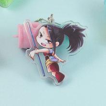 [Mykpop] meu herói academia keyring yaoyorozu momo bonito figura de ação pingentes decoração para chaves sacos amine fãs sc20082812