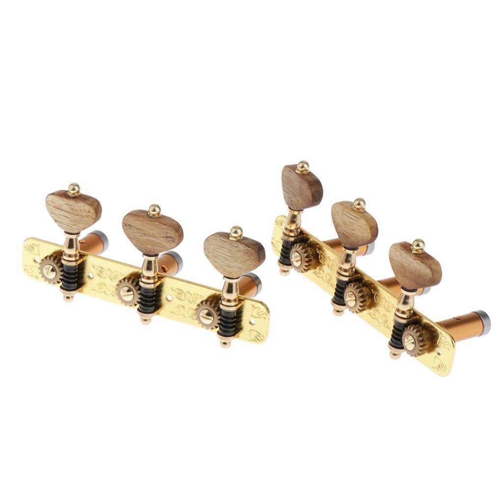 2 pièces en alliage de Zinc guitare classique têtes de Machine accordeurs boutons de bouton d'acacia-doré