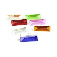 100pcs/lot 22X63mm 22x76mm K9 Crystal Prisms Pendants Colored Suncatcher Feng Shui Pendants Beads for Curtains Lamp Accessories