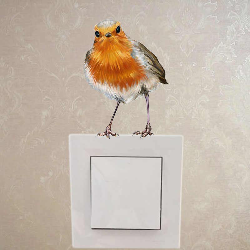YOJA Ilginç Kuşlar Dalları Dekor Duvar elektrik düğmesi çıkartması Oturma Odası Yatak Odası Çıkartmaları Kişiselleştirilmiş 10SS0428