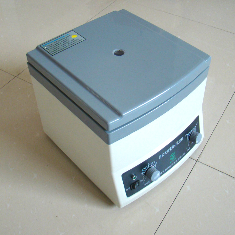 Laboratory Centrifuge Slow Speed Desktop Centrifuge 4000r/min Large Capacity Sediment Centrifuge Machine 50 Ml * 6 Tubes