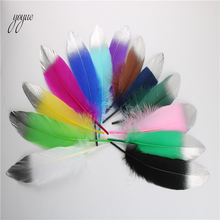 20Pcs/Lot High Quality Gold Goose Feathers 15-20cm/6-8inch Plume Decoration Accessories Wedding For Crafts