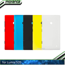 цена на New Colorful Battery Door Back Cover Housing Case for Nokia Lumia 520 with Power Volume Buttons Black White Red Yellow Blue