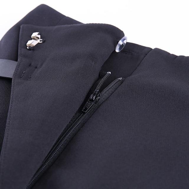Black Casual Straight Suit Pants 6
