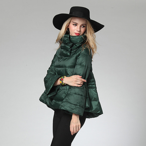 Image 3 - [EAM] Loose Fit Multicolor Green Down Jacket New Stand Collar Long Sleeve Warm Women Parkas Fashion  Spring Autumn 2020 1B811