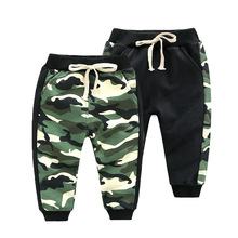 2019 Spring Autumn Camouflage Kids Pants Baby Boys Casual Pants Kids Clothing Cotton Boys Long Trousers Baby Boys Clothing Pants недорого