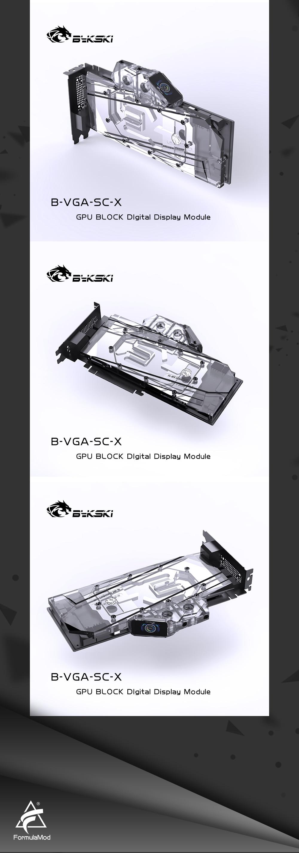 Bykski Digital GPU Thermometer for Computer GPU Cooling Water Block Cooler With Color Display, B-VGA-SC-X