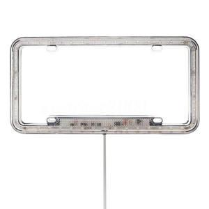 Image 5 - 높은 빛 12 v led 유니버설 화이트 54 라이트 자동차 전면 후면 번호 번호판 프레임 커버