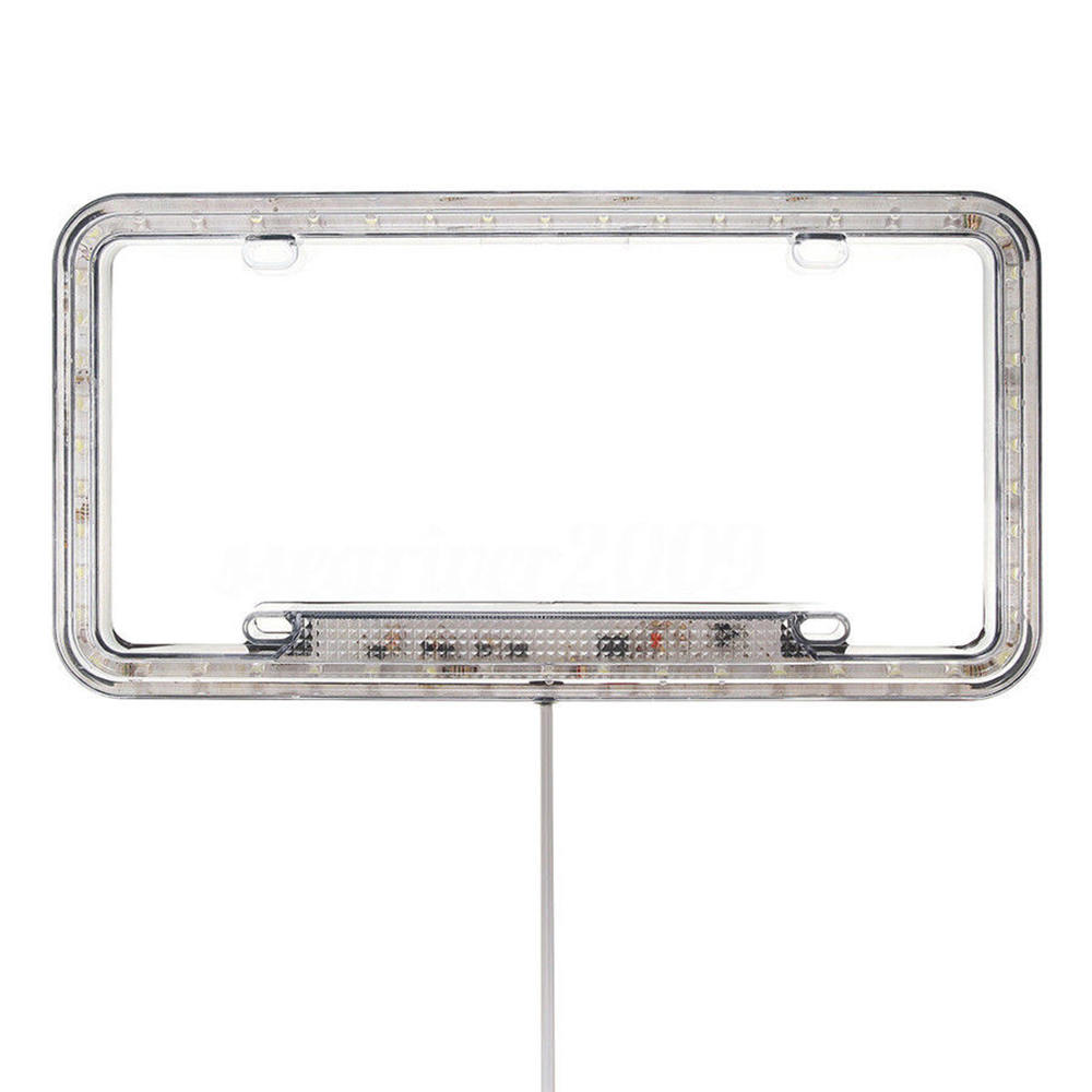 Image 5 - High Light 12V LED Universal White 54 Light Car Front Rear Number License Plate Frame Cover-in License Plate from Automobiles & Motorcycles