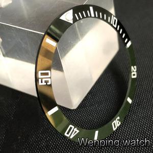 Image 2 - New 38mm high quality black/green ceramics bezel Insert fit 40mm watch