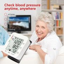 USB Rechargeable Digital Wrist Blood Pressure Monitor English Voice LCD PR Tonometer Heart Rate Meter Sphygmomanometer digital automatic wrist blood pressure monitor lcd wrist cuff blood pressure meter rechargeable sphygmomanometer ce certificatio