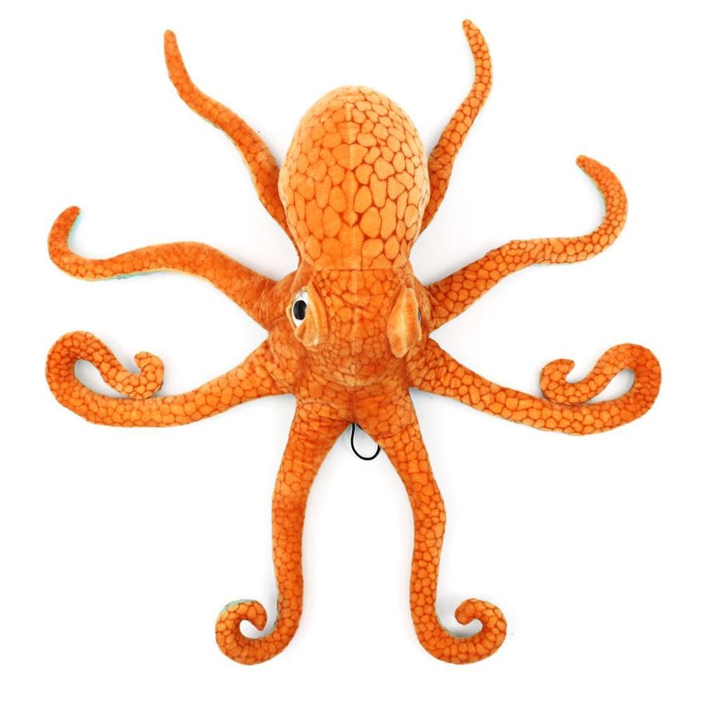 AINY 80CM, большой Забавный милый осьминог, кальмар, чучело, мягкая плюшевая игрушка, кукла, подушка, украшение, подарок