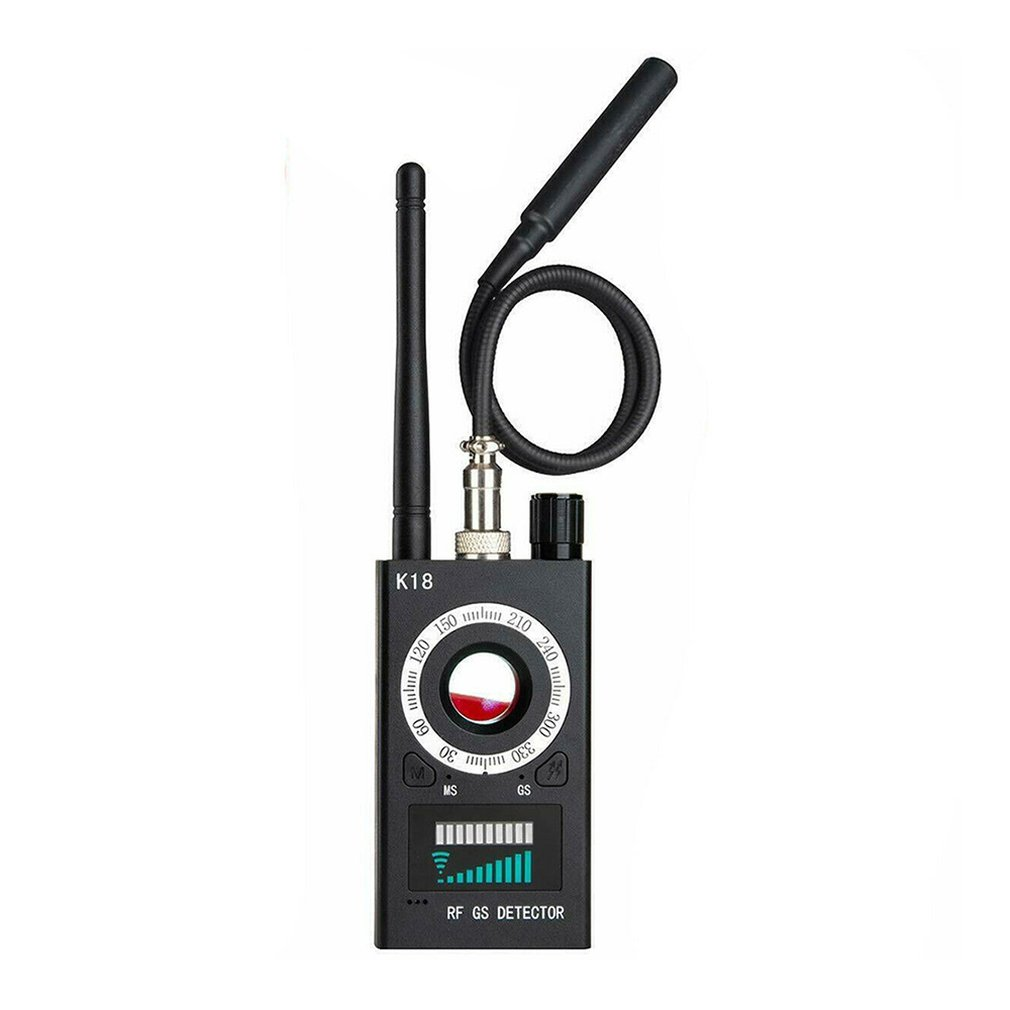 Exquisitely Designed Durable RF Signal Detector Anti-spy Detector Camera K18 GSM Audio Bug Finder GPS Scan