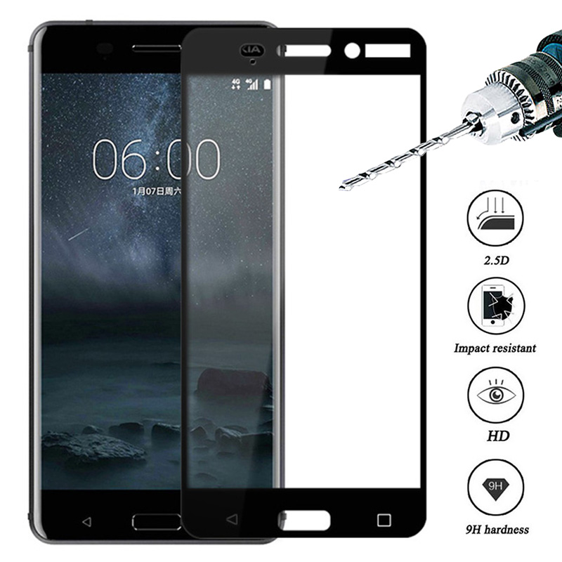 Protective Glass On For <font><b>Nokia</b></font> 7 <font><b>7.1</b></font> plus x6 8.1 <font><b>Screen</b></font> <font><b>Protector</b></font> Tempered Glass For <font><b>Nokia</b></font> 5 6 2 3 2018 Full Cover Protection 9H image