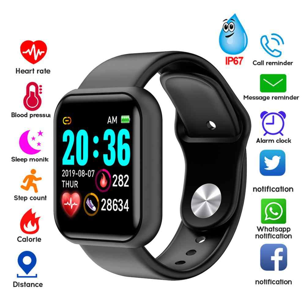D20 Bluetooth Smart Uhren Männer Wasserdichte Sport Fitness Tracker Smart Armband Blutdruck Herz Rate Monitor Y68 Smartwatch