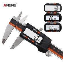Caliper eletrônico vernier digital calibres 0-150mm calibre medidor inoxidável pé calibre ferramenta medição 6 Polegada régua pachômetro