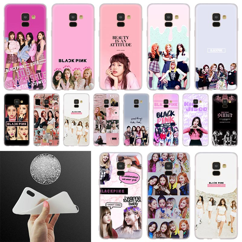 BLACK PINK k-pop Phone Case For <font><b>Samsung</b></font> Galaxy <font><b>A10</b></font> A20 A30 A40 A50 A60 A70 A6 A8 Plus A7 A9 2018 A3 A5 2017 Soft Cover <font><b>Coque</b></font> image