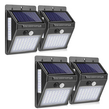 100 LED Solar Light 4pcs Outdoor Garden Decoration Lights Waterproof Path Solar Wall Light PIR Motion Sensor Solar Powered Lamp 10w pir motion sensor led spot lighting solar powered panel outdoor garden path wall lights flood led emergency lamp luminaria