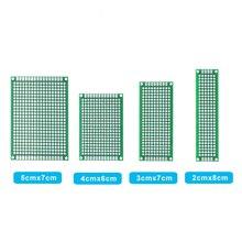 4pcs 5x7 4x6 3x7 2x8cm double Side Copper prototype pcb Universal Board Fiberglass board for Arduino