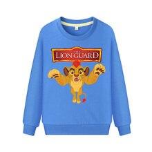 The Lion King Boys kids T-shirt Baby girls Boys Clothes Kids autumn sweatershirt blouse tops Children's sweater hood clothing