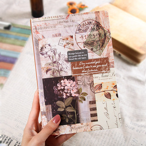 1pc Vintage Notebook A5 Creative Stationery Diary Planner Journal Notepad Soft Kraft Paper Notebooks Gift European Retro