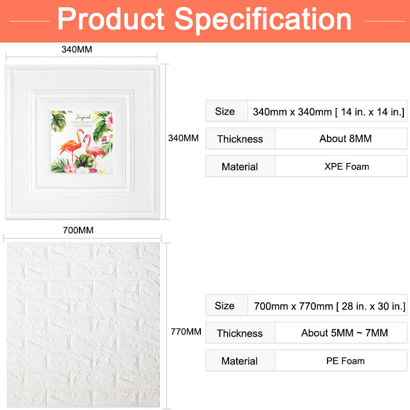Decoración pintura papel pintado autoadhesivo impermeable pegatinas de pared colgante póster DIY decoración para el hogar pintura en relieve