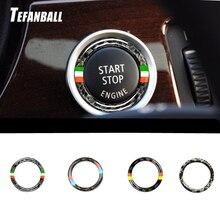 For BMW E89 E90 E92 E93 Z4 Car Interior Carbon Fiber One Button To Start The Decorative Ring Car Engine Start Button Ring Trim цена 2017