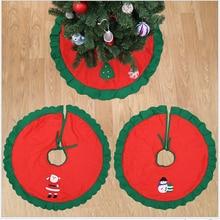 1Pc 90x90cm Christmas Tree Skirt Santa Claus Snowman Non-woven Fabric Tree Skirt New Year Decor Christmas Decorations For Home цена