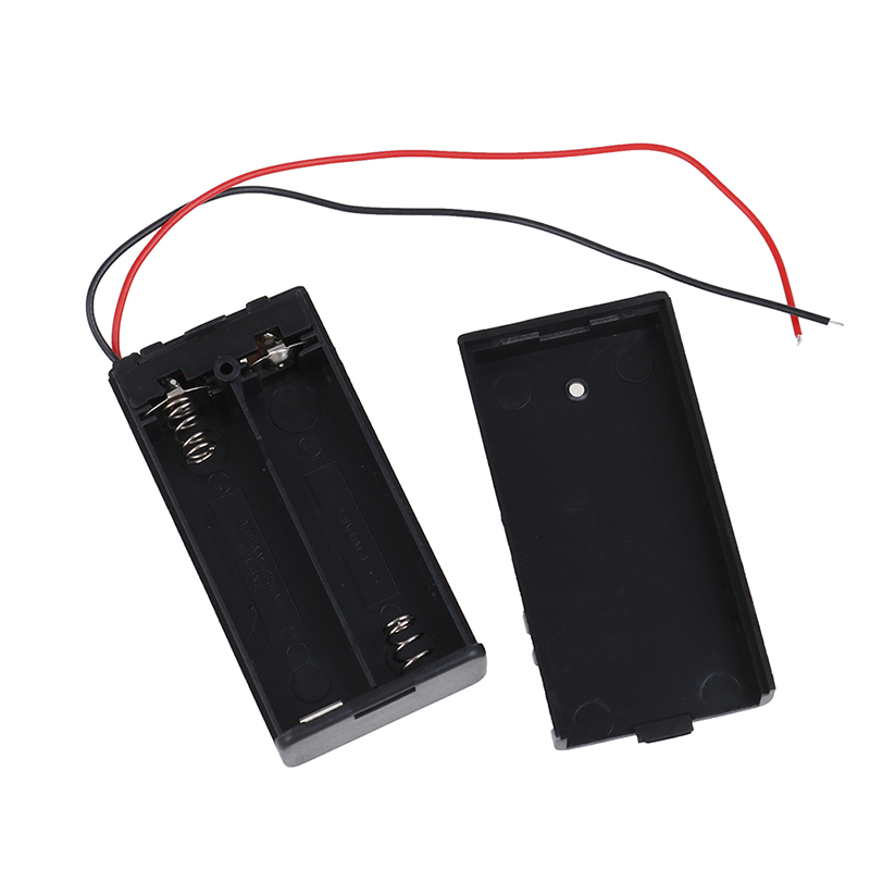 Новый AA 3V черный держатель батареи Разъем чехол для хранения коробка вкл/выкл переключатель с свинцовой проволокой легкий вес с 2 проводами