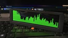 وحدة عرض طيف الموسيقى OLED ، 5.5 بوصة ، مقياس VU ، التحكم في صوت السيارة ، ساعة طيف HiFi احترافية ، ميكروفون ، علبة معدنية سوداء H34