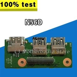 For Asus N56D N56DY N56DP/N56DR For AMD Dedicated Laptop Audio USB IO Board Interface Board Sound Card Reader Board Tested Well