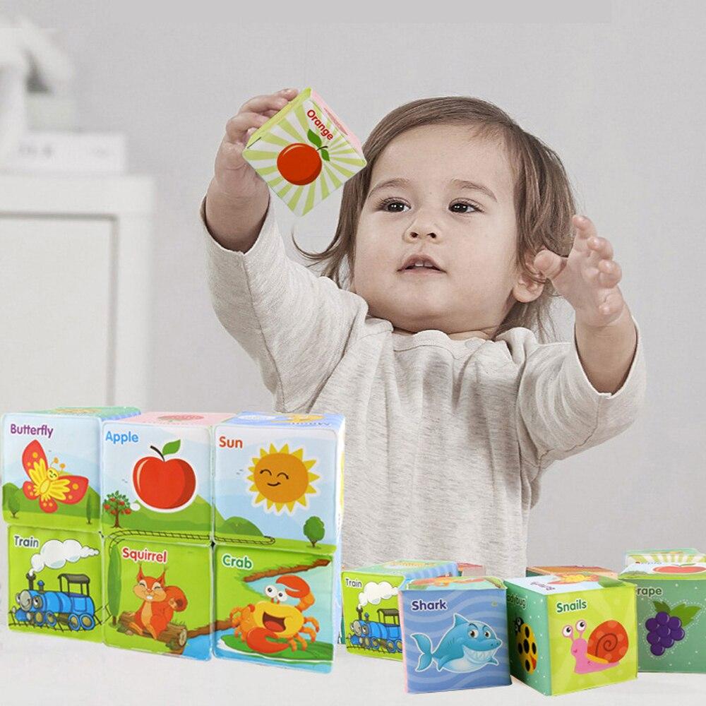 Éducation de la petite enfance carte dés jouets EVA matériel de Protection de l'environnement bébé Puzzle Cube bloc de construction jouet