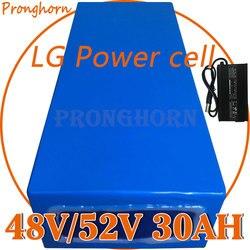 Batterie au Lithium LG pour vélo électrique, frais de douane offerts, 48V, 52V, 13ah, 14ah, 16ah, 20ah, 22ah, 25ah, 30ah, pour moteur 1000W ou 2000W, chargeur inclus