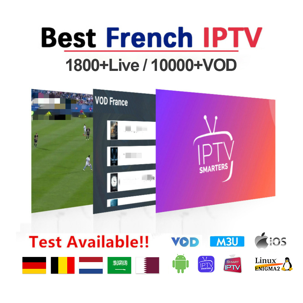 IPTV France Arabic IPTV Subscription M3U Morocco Qatar IP TV 1 Year French Arabic Algeria Dutch Belgium IPTV Subscription Code