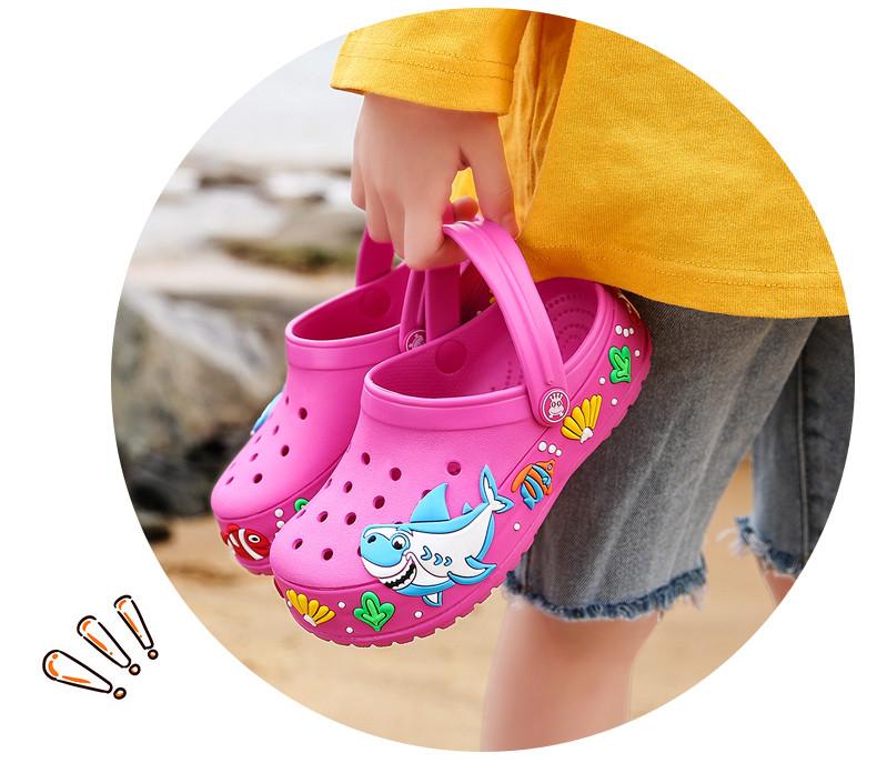 2017 New fashion children garden shoes children cartoon sandal babies summer slippers high quality kids garden children sandals (15)