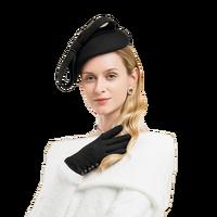 Wool Fascinator Winter Elegant Women Pillbox Hat Black Felt Pink Red Ladies Wedding Hats Bowknot Kentucky Derby Fedoras