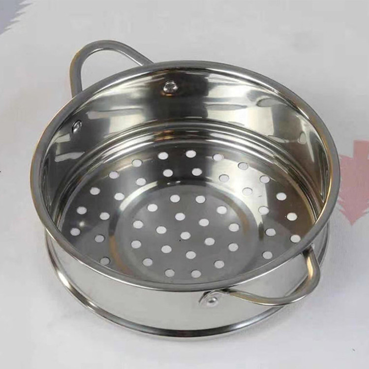 Didinika Baby Food Supplement Pot Only Steamer Lattice 16cm Milk Pot Small Steamer 304 Stainless Steel Thick Universal