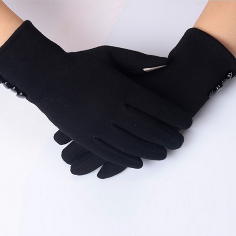 Female Gloves Winter For Fitness Women PhoneTouch Screen Wrist Mittens Warm Ladies Outdoor Heated Gloves