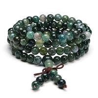 108 Beads Mala Bracelet Necklace 6mm Crystal Buddha Bracelet Prayer Bless Tibetan Buddhist Bracelet/Necklace for Women girls