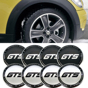 for GT S Wheels Modification for Porsche Mercedes Benz AMG BMW F10 X5 Subaru Brz Honda Mini Cooper Corvette 4pcs Hub Caps Emblem image