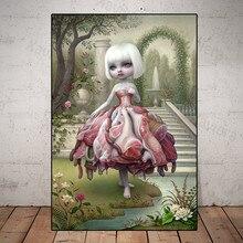 Абстрактные Художественные плакаты Марка Райдена, милые девушки, носящие необычную одежду, домашний декор, гостиная, ужасная Картина на хол...