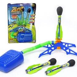 Juego de cohete de Pie ajustable juguetes para niños, lanzador de cohete de aire comprimido, bomba de aire, cohete de potencia, juguetes deportivos al aire libre para niños