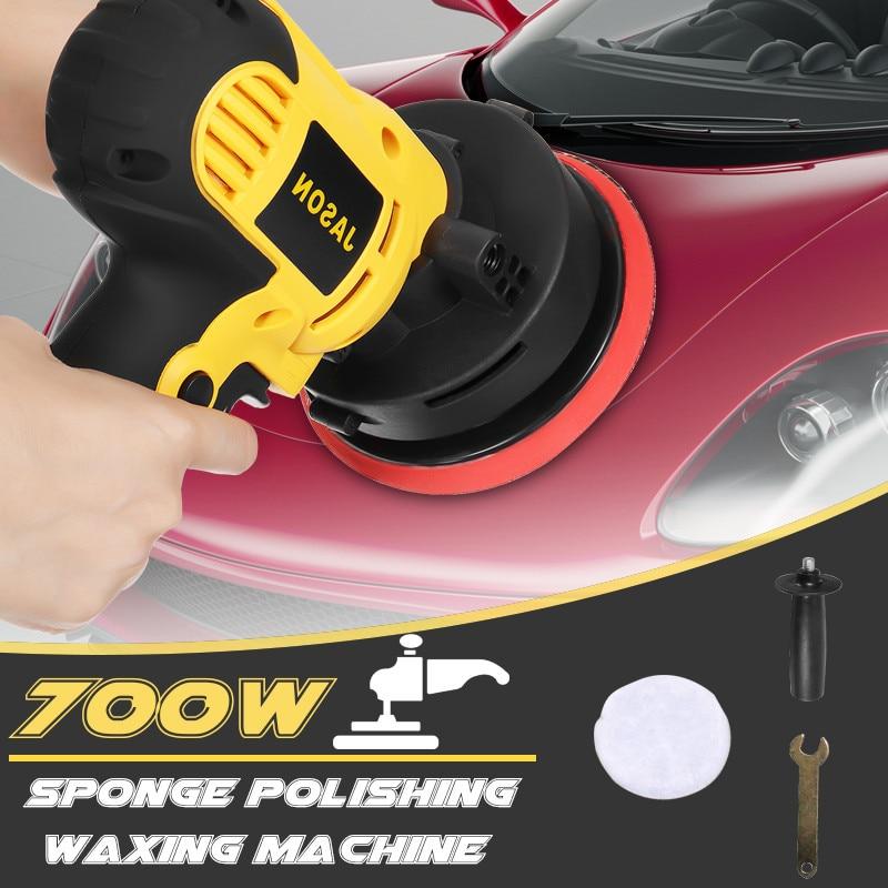 220V 750W Waxing Polishing Machine Angle Grinder For Polishing Metal Furniture Adjustable speed 125MM Pad With