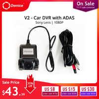 Ownice V1 V2 Mini ADAS Auto DVR Carmera Dash Cam Full HD1080P Auto Video Recorder G-sensore di Visione Notturna dashcam accessori
