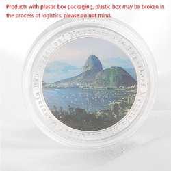 Бразилия 2016 Рио Олимпийские игры Sugarloaf горная Серебряная пластина памятная монета Q9QA