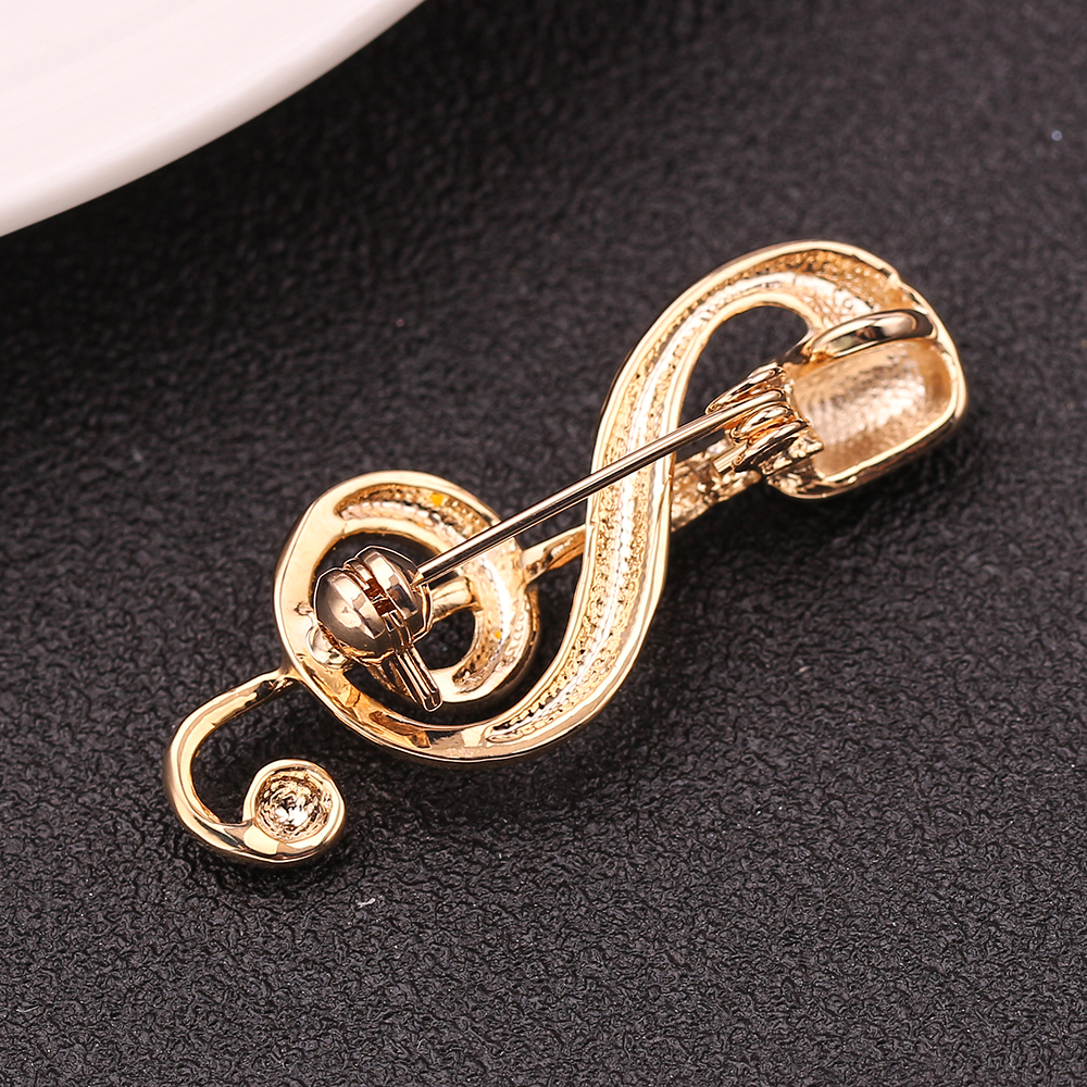 New Microphone Music Note Brooches For Women And Men Singer Party Concert Accessories Christmas Gifts High Quality