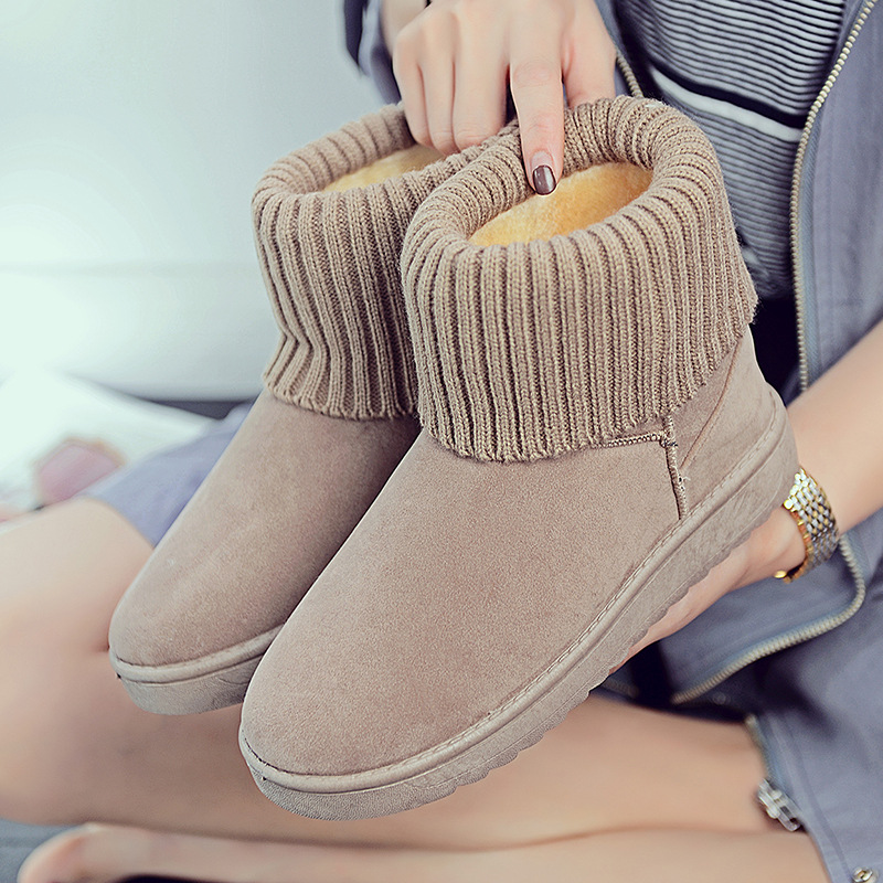 Women's new snow boots winter fashion wild classic women's shoes simple warm non-slip waterproof wool shoes ladies ankle boots 69