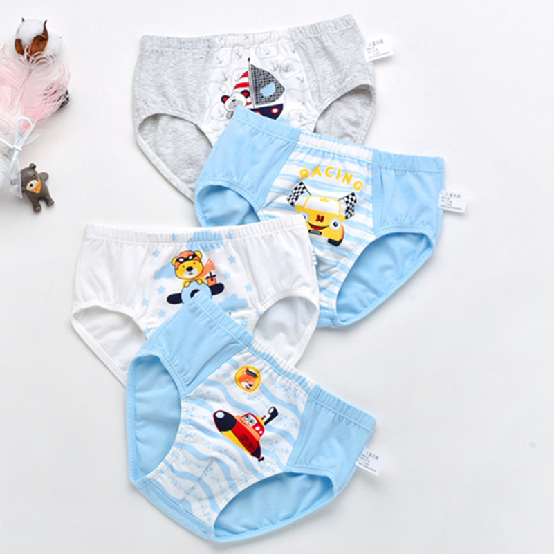 Pcs/Lot Boy'S 2-9Y Kids Boxer Shorts Soft Baby Boys Underpants Cotton Panties For Children Cartoon Underwear