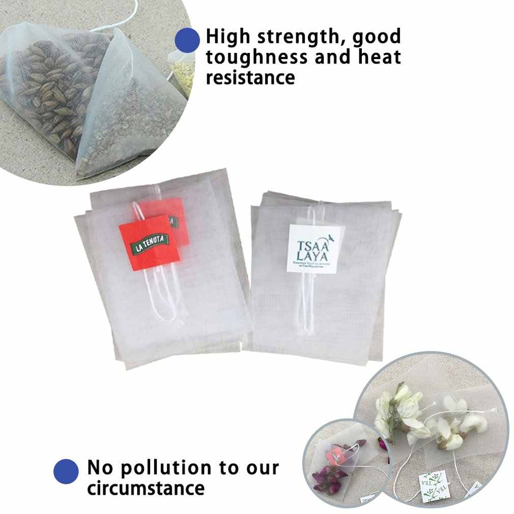 1Pc Non-Tessuto Bustine di Vuoto Draw String Guarnizione Termica Filtro di Carta Herb Tè Allentato Del Sacchetto Del Sacchetto